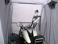 Waterproof motorcycle cover inside