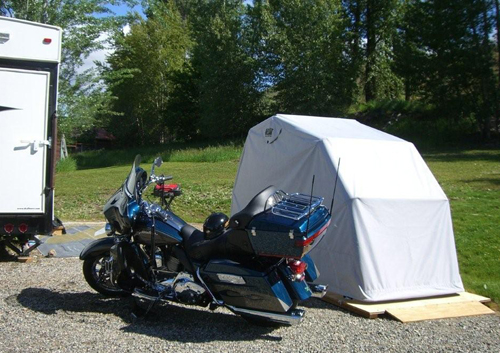 Hard Covered Bike Shelters : What people are saying about our bike barn motorcycle shelters