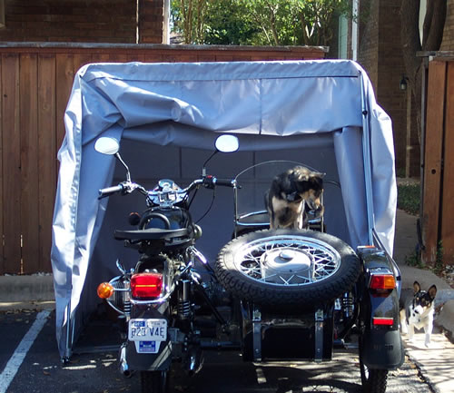 Enclosed Motorcycle Shelter : Harbor freight portable garage page russian