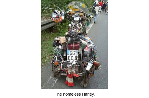 The homeless Harley.