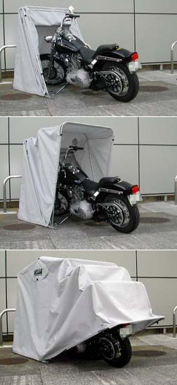Enclosed Motorcycle Shelter : Bike barn standard motorcycle cover cruiser